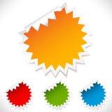 Etiquetas engomadas coloridas del espacio en blanco del vector. Fotos de archivo libres de regalías
