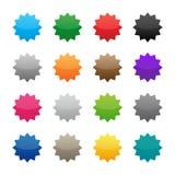 Etiquetas engomadas coloridas en blanco ilustración del vector