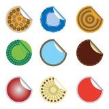 Etiquetas engomadas con los ornamentos Imagenes de archivo
