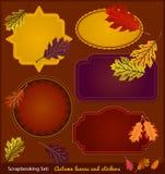 Etiquetas engomadas de Autumn Scrapbook Fotos de archivo libres de regalías