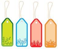 Etiquetas engomadas de Colorfull Foto de archivo libre de regalías