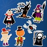 Etiquetas engomadas de Halloween Fotos de archivo libres de regalías