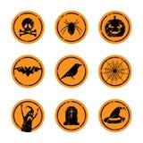 Etiquetas engomadas de Halloween stock de ilustración