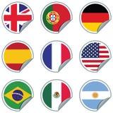Etiquetas engomadas de la bandera Imagen de archivo