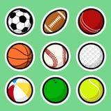 Etiquetas engomadas de la bola libre illustration