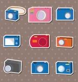 Etiquetas engomadas de la cámara Imagen de archivo