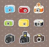 Etiquetas engomadas de la cámara Foto de archivo libre de regalías