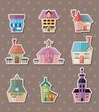 Etiquetas engomadas de la casa Fotos de archivo libres de regalías