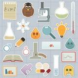 Etiquetas engomadas de la ciencia Fotografía de archivo libre de regalías