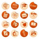 Etiquetas engomadas de la ciencia y de la educación Imagen de archivo libre de regalías