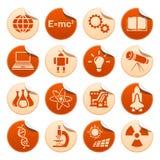 Etiquetas engomadas de la ciencia y de la tecnología Stock de ilustración