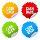 Etiquetas engomadas de la devolución de efectivo libre illustration
