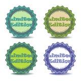 Etiquetas engomadas de la edición limitada Imágenes de archivo libres de regalías