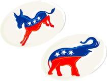 Etiquetas engomadas de la elección Foto de archivo