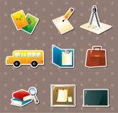 Etiquetas engomadas de la escuela Imagenes de archivo