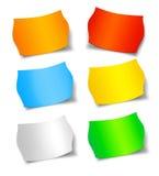 Etiquetas engomadas de la etiqueta de la oferta de la venta del descuento del precio Fotografía de archivo