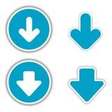 Etiquetas engomadas de la flecha del vector Fotografía de archivo libre de regalías