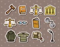 Etiquetas engomadas de la ley Imagen de archivo libre de regalías