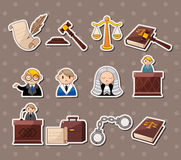 Etiquetas engomadas de la ley Imagenes de archivo