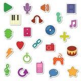Etiquetas engomadas de la música Foto de archivo libre de regalías