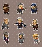 Etiquetas engomadas de la mafia Imagen de archivo libre de regalías