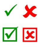 Etiquetas engomadas de la marca de verificación del vector Foto de archivo libre de regalías