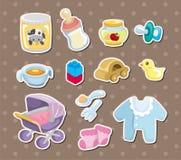 Etiquetas engomadas de la materia del bebé Imagen de archivo libre de regalías