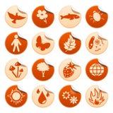 Etiquetas engomadas de la naturaleza Libre Illustration