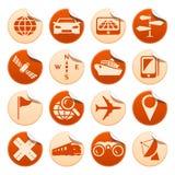 Etiquetas engomadas de la navegación y del transporte Ilustración del Vector
