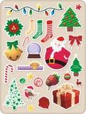Etiquetas engomadas de la Navidad Imagen de archivo