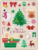 Etiquetas engomadas de la Navidad Imagen de archivo libre de regalías