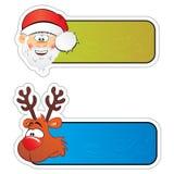 Etiquetas engomadas de la Navidad Fotos de archivo