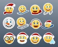 Etiquetas engomadas de la Navidad Imágenes de archivo libres de regalías
