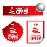 Etiquetas engomadas de la oferta de la Navidad Fotografía de archivo libre de regalías