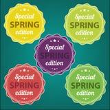 Etiquetas engomadas de la oferta de la primavera Edición especial Imágenes de archivo libres de regalías