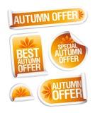 Etiquetas engomadas de la oferta del otoño. Foto de archivo libre de regalías