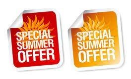 Etiquetas engomadas de la oferta del verano. Imagen de archivo libre de regalías