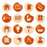 Etiquetas engomadas de la reparación de la casa Fotografía de archivo