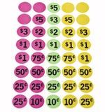 Etiquetas engomadas de la tasación Imagen de archivo libre de regalías