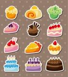 Etiquetas engomadas de la torta de la historieta Imagen de archivo libre de regalías