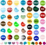 Etiquetas engomadas de la venta Fotografía de archivo
