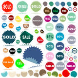 Etiquetas engomadas de la venta Imagen de archivo