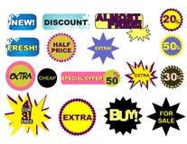 Etiquetas engomadas de la venta Imagenes de archivo
