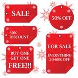 Etiquetas engomadas de la venta del día de fiesta Imágenes de archivo libres de regalías