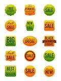 Etiquetas engomadas de la venta del otoño Imagen de archivo libre de regalías