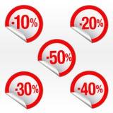 Etiquetas engomadas de la venta del vector Imágenes de archivo libres de regalías