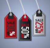 Etiquetas engomadas de la venta fijadas Imágenes de archivo libres de regalías