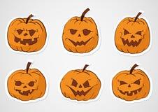 Etiquetas engomadas de las calabazas de Halloween Fotografía de archivo libre de regalías