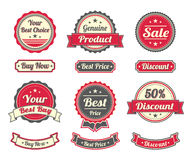 Etiquetas engomadas de las compras del vintage Imagen de archivo libre de regalías