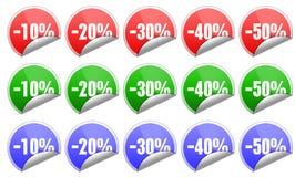 Etiquetas engomadas de las ventas ilustración del vector
